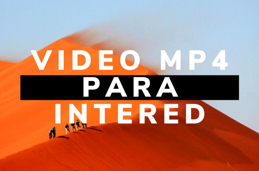 Video MP4 para la web del Convenio